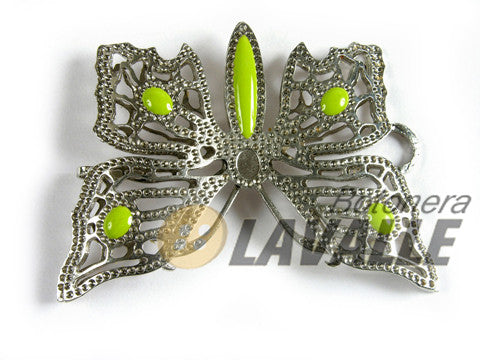 Buckle butterfly openwork metal pewter  650