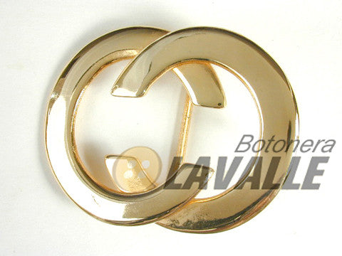 Buckle metal pewter  chanel c136