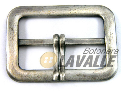 Buckle rectangular metal pewter  683