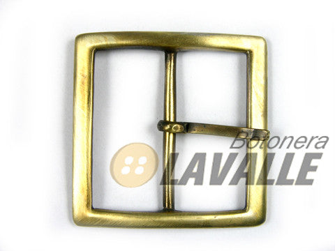 Buckle square metal pewter  bronze 776