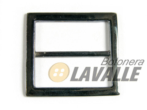 Buckle square metal pewter  593