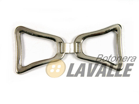 Buckle triangular metal pewter  658