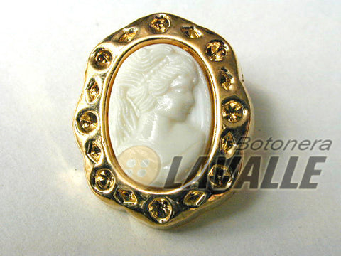 Button shank back attachment cameo 10900