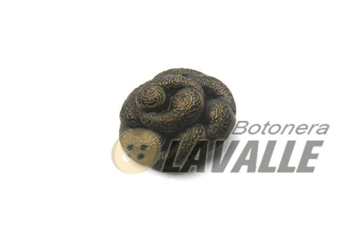 Button shank back attachment knot 87590