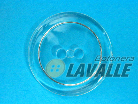 Button cristal hoop nikel 81100