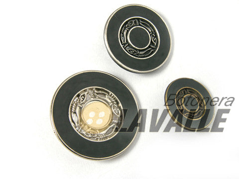 Button enamel rounded 681