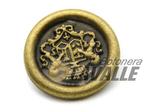 Button fantasy shield 2 lions 870