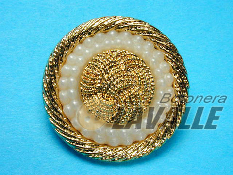 Button gold pearl 93076