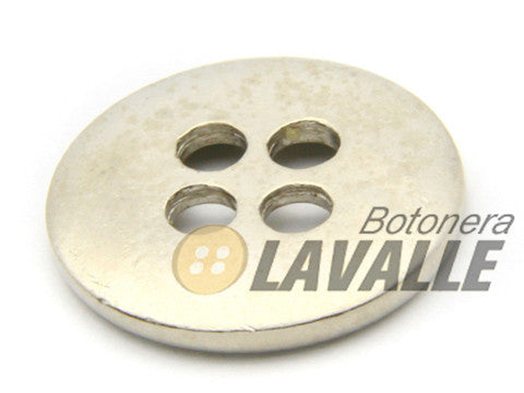 Button metal pewter  4 eyelets 822