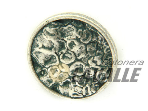 Button metal pewter  beaten 1215