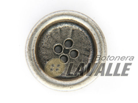 Button metal pewter  classic 1159