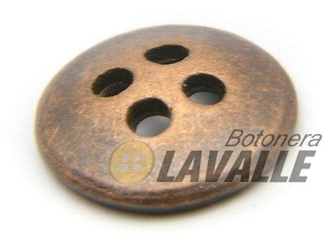 Button metal pewter  classic 897