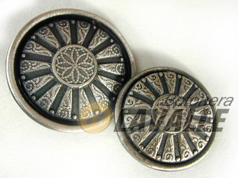 Button metal pewter  fancy c361