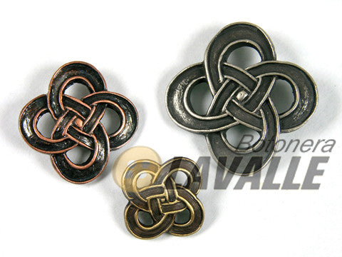 Button metal pewter  infinito silver cooper bronze 741