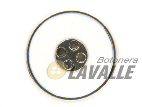 Button metal pewter  rounded enamel 1090