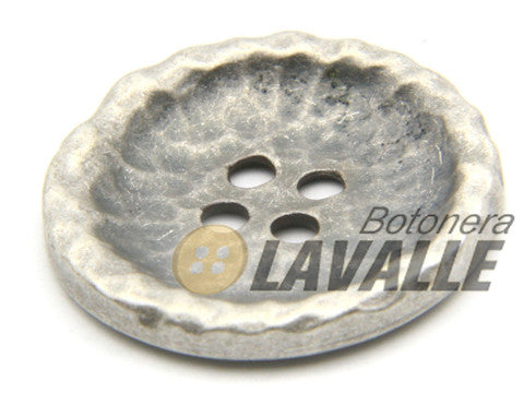 Button metal pewter  tailor fancy 855