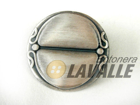Button metal pewter  c398