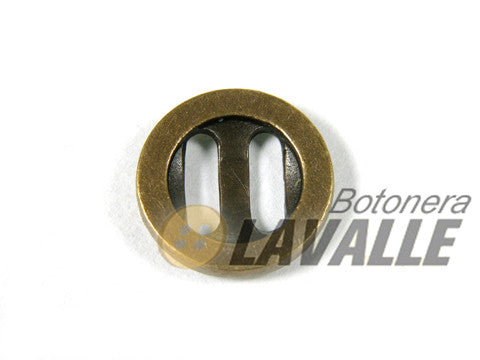 Button metal rounded eyelet rectangular bronze 798