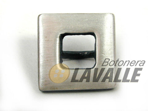 Button openwork metal pewter  design square 326