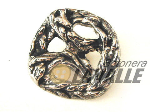 Button openwork metal pewter  design 178