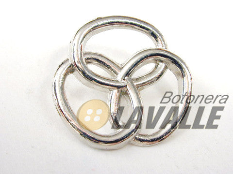 Button openwork metal pewter  design 394