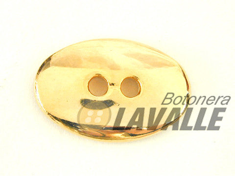 Button oval eyelet polished c459