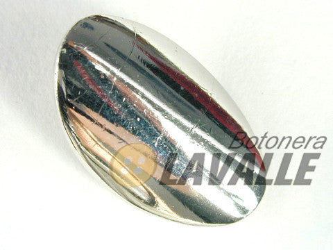 Button oval polished shank back attachment c360