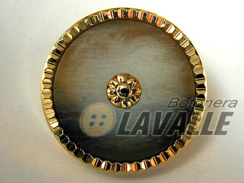 Button polyester gold combined 500
