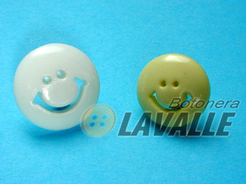 Button rounded face smile face 49816