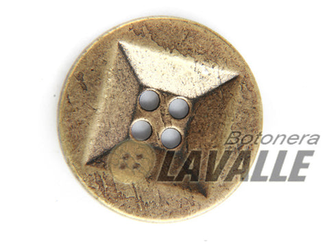 Button rounded metal pewter  1173
