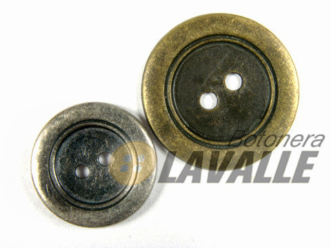 Button rounded metal wide edge 777