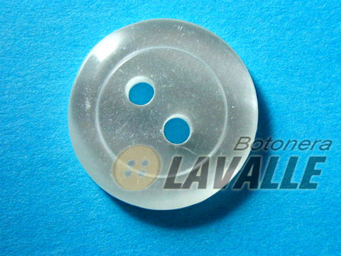 Button rounded two eyelets 201