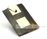 Accessory rectangular cow horn 925 sterling silver a3565