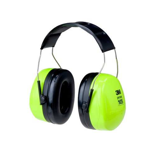 3M H10A HV Peltor Optime 105 Series High Visability Ear Muffs 30dB