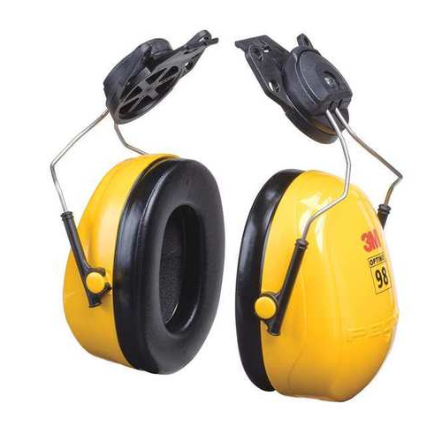 3M H9P3E Peltor Optime 98 Series Hard Hat Mount Ear Muffs 23dB