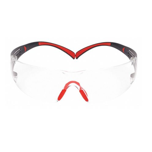 3M SF401SGAF-Red 3M SecureFit Safety Glasses Clear ScotchGard Anti-Fog Lens