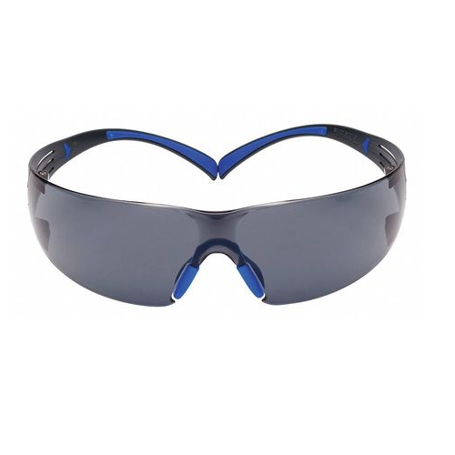 3M SF402SGAF-Blue 3M SecureFit Safety Glasses ScotchGard Gray Anti-Fog Lens