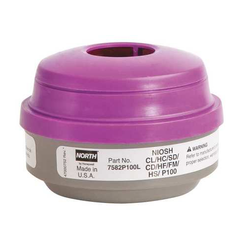 North 7582P100L Acid Gas P100 North Respirator Cartridges