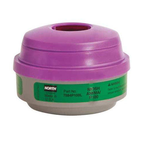 North 7584P100L Ammonia Methylamine P100 North Respirator Cartridges