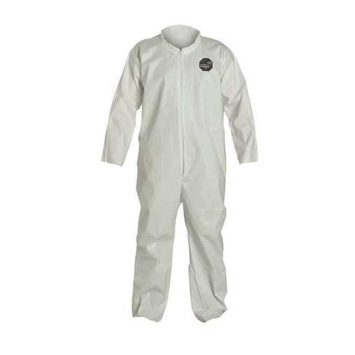 Dupont ProShield 60 Disposable Coveralls NG125SWH Collar Elastic Wrists and Ankles Case of 25