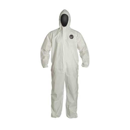 Dupont ProShield 60 Disposable Coveralls NG127SWH Hooded Elastic Wrists and Ankles Case of 25