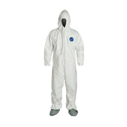 Dupont Tyvek 400 Disposable Coveralls TY122SWH Hooded, Boots Elastic Wrists and Ankles Case of 25