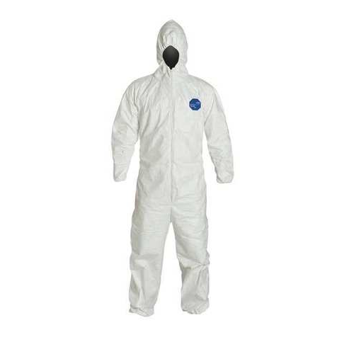Dupont Tyvek 400 Disposable Coveralls TY127SWH Hooded Elastic Wrists and Ankles Case of 25