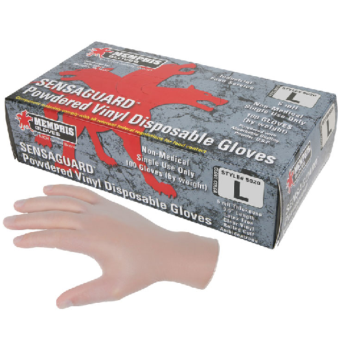 MCR 5020 Sensaguard Vinyl Gloves Powdered