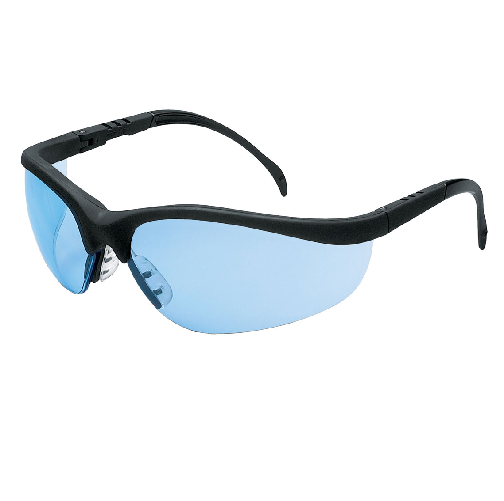 MCR KD113 Klondike Safety Glasses Light Blue Lens Anti-Scratch
