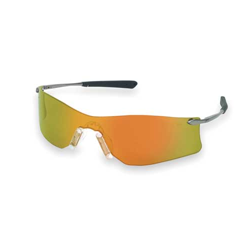 MCR T411R Rubicon Safety Glasses Fire Mirror Scratch Resistant Lens
