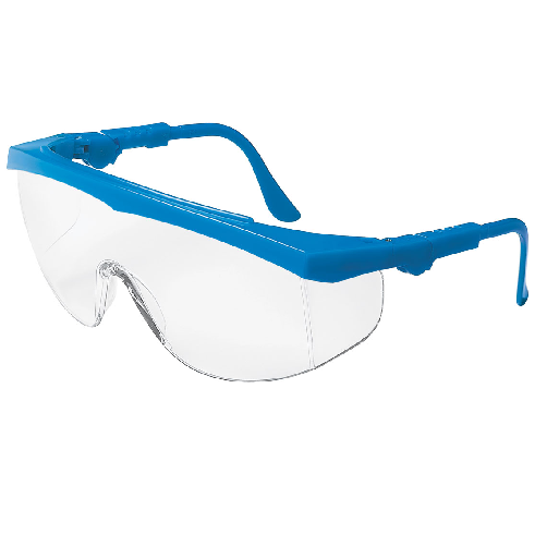 MCR TK120 Tomahawk Safety Glasses Clear Lens Anti-Scratch Blue Frame