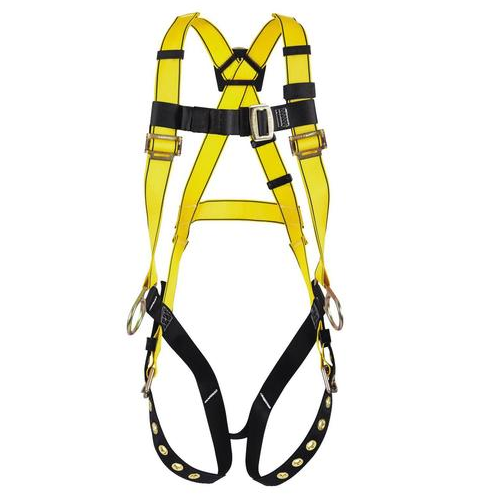 MSA 10072483 Workman Full Body Harness Hip and Back D-Ring Qwik Fit Legs Standard Size 400lbs