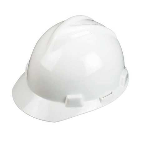 MSA 463942 V-Gard White Hard Hat Staz-On-Pinlock