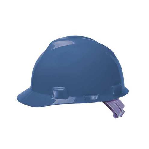 MSA 463943 V-Gard Blue Hard Hat Staz-On-Pinlock